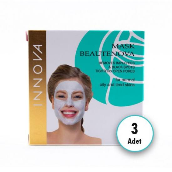 Innova Mask Beautenova Siyah Nokta Giderici Maske 8x5 ml x 3 Adet