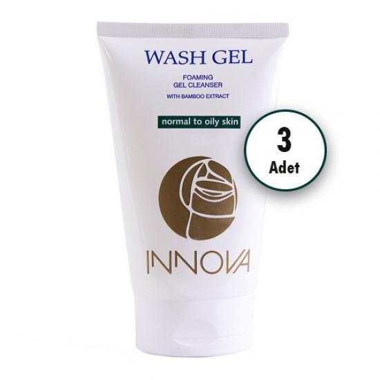Innova Wash-Gel D.S. - Cilt Yıkama Jeli 150 ml x 3 Adet
